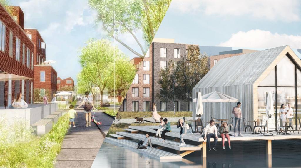 Forslag til nye boliger i Kirkebjerg